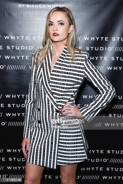 Charli Fiso attends Fashion Designer Bianca Whyte's Launch Of Her LondonBased Fashion Label Whyte Studio At Topshop at TopShop on February 20 2019 in...