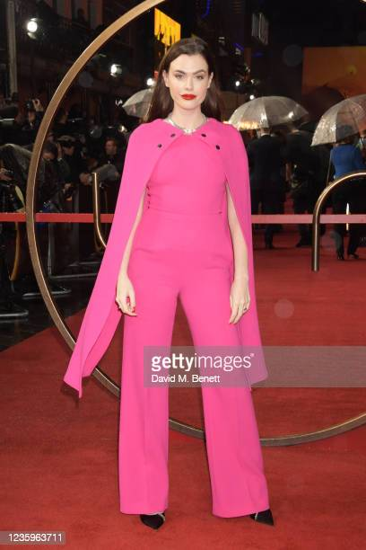 """Charli Howard attends the UK Special Screening of """"Dune"""" at the Odeon Luxe Leicester Square on October 18, 2021 in London, England."""