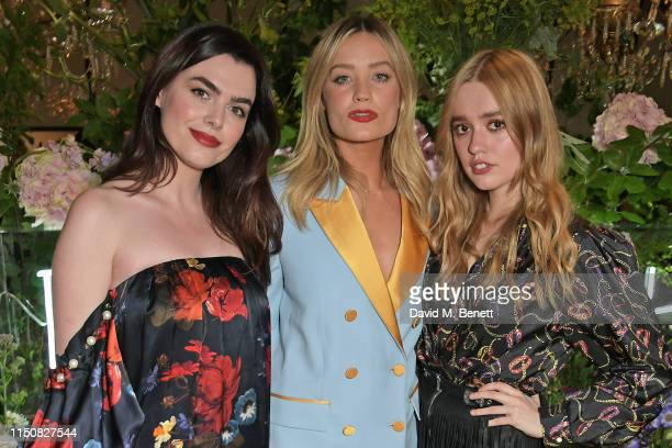 Charli Howard Laura Whitmore and Aimee Lou Wood celebrate The ELLE List in association with MAGNUM ice cream on June 19 2019 in London England