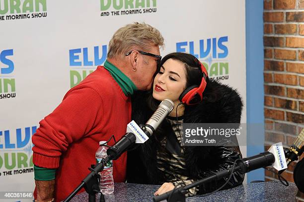 Charli XCX and Uncle Johnny visit The Elvis Duran Z100 Morning Show at Z100 Studio on December 12 2014 in New York City