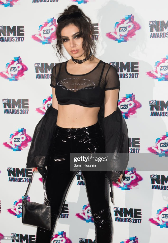 Charli XCX arrives at the VO5 NME awards 2017 on February 15, 2017 in London, United Kingdom.