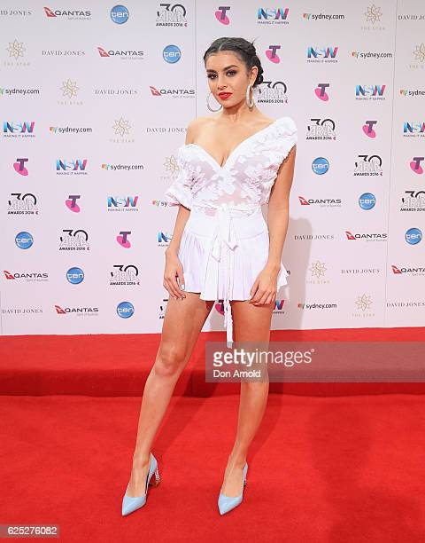 Charli XCX arrives for the 30th Annual ARIA Awards 2016 at The Star on November 23 2016 in Sydney Australia