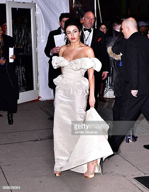 Charli XCX arrives to 2016 amfAR New York Gala at Cipriani Wall Street on February 10 2016 in New York City