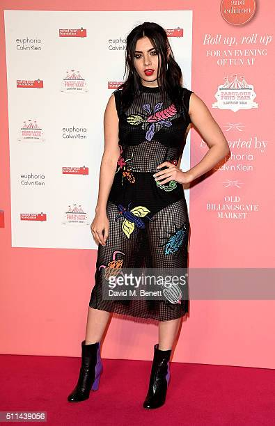 Charli XCX at The Naked Heart Foundation's Fabulous Fund Fair in London at Old Billingsgate Market on February 20 2016 in London England