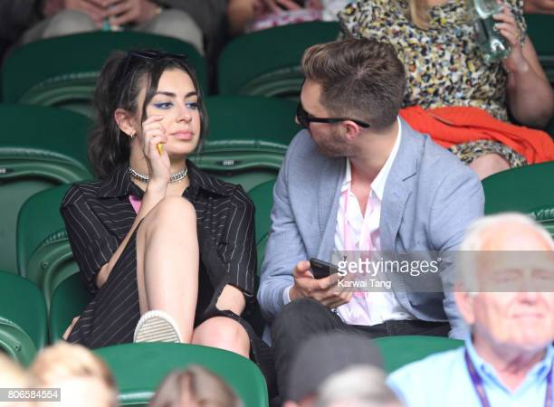 Charli XCX attends day one of the Wimbledon Tennis Championships at the All England Lawn Tennis and Croquet Club on July 3 2017 in London United...