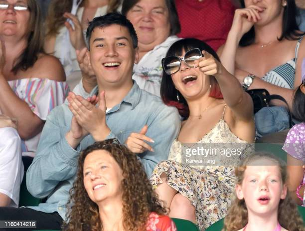 Charli XCX attends day six of the Wimbledon Tennis Championships at All England Lawn Tennis and Croquet Club on July 06, 2019 in London, England.