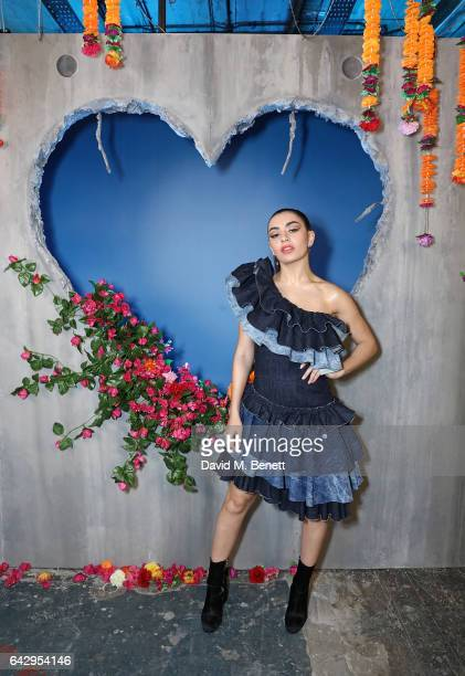 Charli XCX attends Diesel Make Love Not Walls Global Event on February 19, 2017 in London, England.