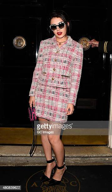Charli XCX attends Juicy Couture 'I Am Juicy' Fragrance Launch Party at The Arts Club in Mayfair on July 15 2015 in London England