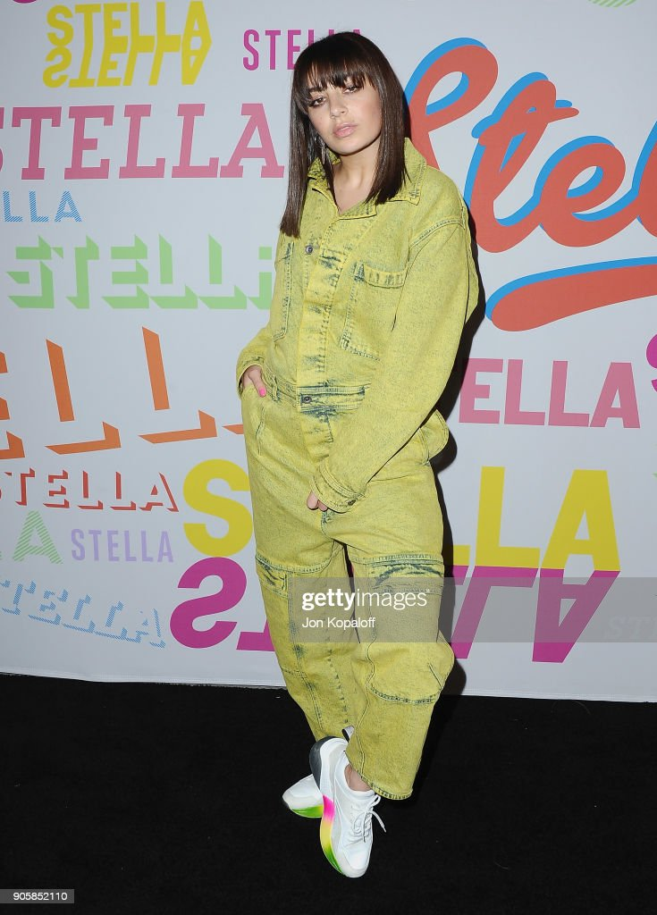 Charli XCX attends Stella McCartney's Autumn 2018 Collection Launch on January 16, 2018 in Los Angeles, California.