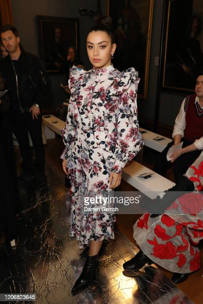 Charli XCX attends the Erdem show during London Fashion Week February 2020 on February 17 2020 in London England