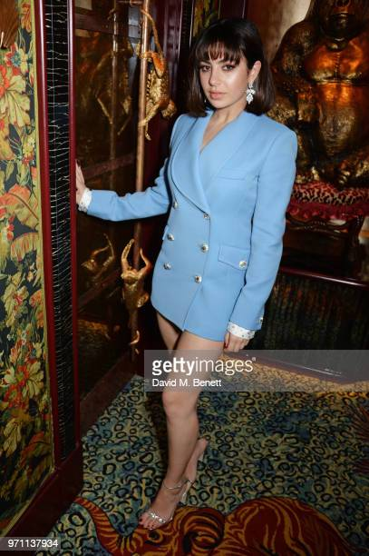 Charli XCX attends the GQ Style and Browns LFWM Party at Annabels on June 10 2018 in London England