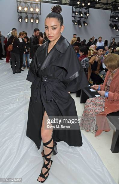 Charli XCX attends the JW Anderson show during London Fashion Week February 2020 at Yeomanry House on February 17, 2020 in London, England.