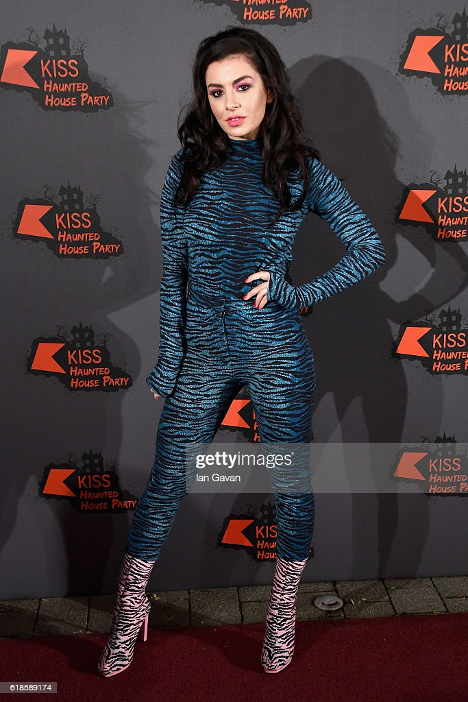 Charli XCX attends the Kiss FM Haunted House Party at SSE Arena on October 27, 2016 in London, England.