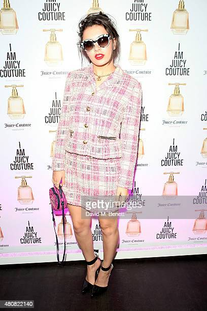 Charli XCX attends the launch of the new Juicy Couture fragrance at The Arts Club on July 15 2015 in London England