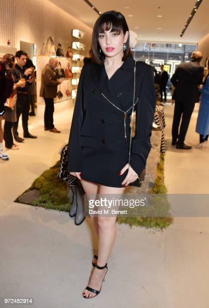 Charli XCX attends the launch of the Stella McCartney Global flagship store on Old Bond Street on June 12 2018 in London England