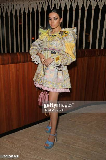 Charli XCX attends the LOVE Magazine LFW Party, celebrating issue 23 at The Standard, London on February 17, 2020 in London, England. LOVE magazine...