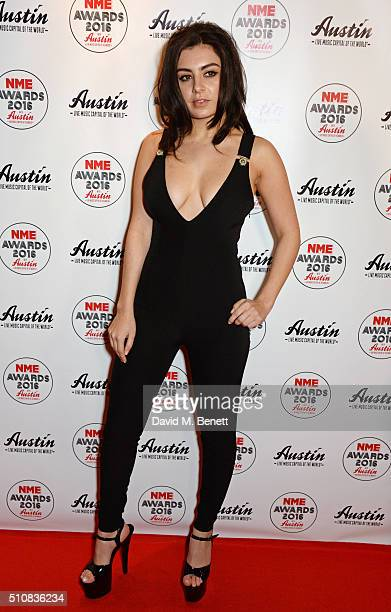 Charli XCX attends the NME Awards with Austin Texas at the O2 Academy Brixton on February 17 2016 in London England