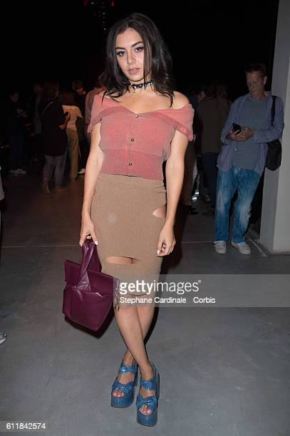 Charli XCX attends the Vivienne Westwood show as part of the Paris Fashion Week Womenswear Spring/Summer 2017 on October 1, 2016 in Paris, France.