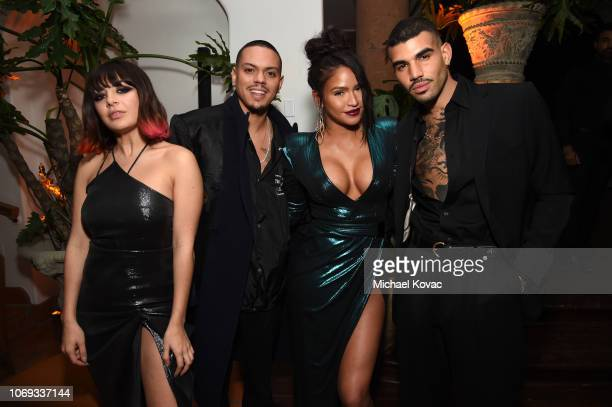 Charli XCX Evan Ross Cassie and Miles Brockman Richie attend the 2018 GQ Men of the Year Party at a private residence on December 6 2018 in Beverly...