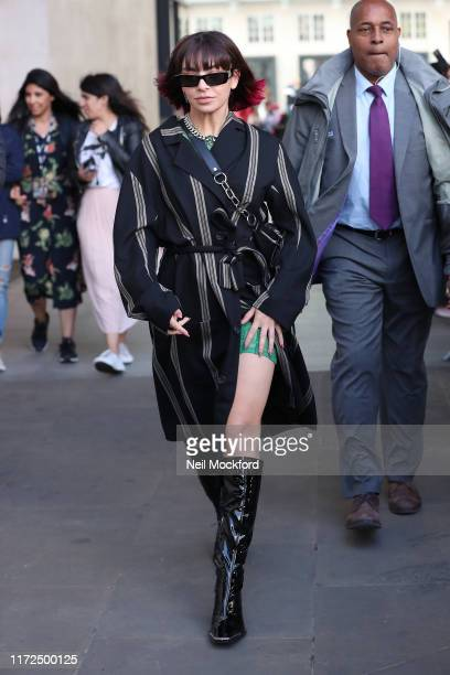 Charli XCX leaving BBC Radio One Live Lounge on September 05 2019 in London England