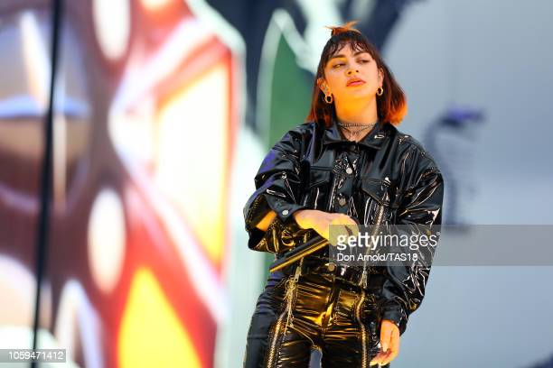 Charli XCX opens for Taylor Swift at Mt Smart Stadium on November 9 2018 in Auckland New Zealand