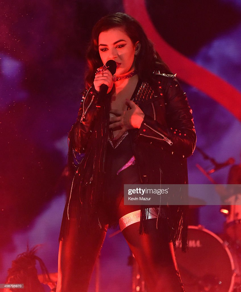 Charli XCX performs at the MTV EMA's 2014 at The Hydro on November 9, 2014 in Glasgow, Scotland.