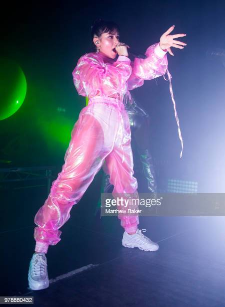 Charli XCX performs live on stage at Village Underground on June 19 2018 in London England