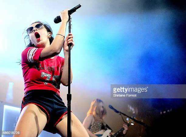 Charli XCX performs on day 3 of The Leeds Festival at Bramham Park on August 30 2015 in Leeds England
