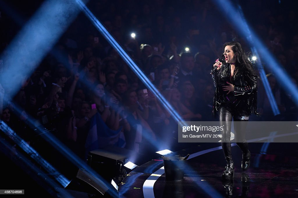 Charli XCX performs on stage during the MTV EMA's 2014 at