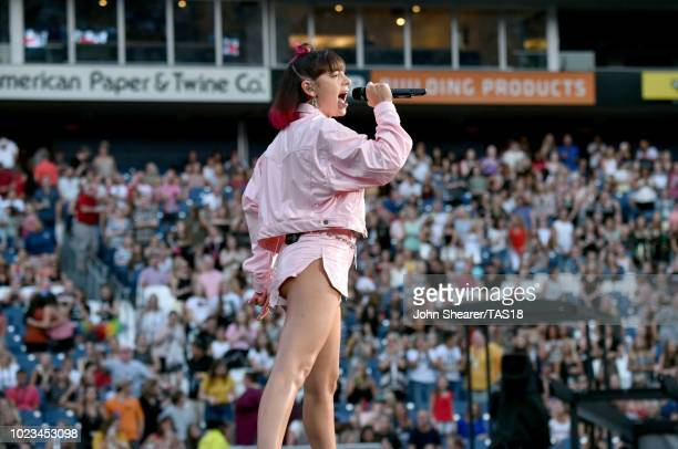 Charli XCX performs onstage during the reputation Stadium Tour at Nissan Stadium on August 25 2018 in Nashville Tennessee