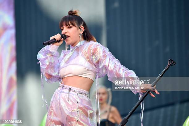 Charli XCX performs onstage during the Taylor Swift reputation Stadium Tour at MetLife Stadium on July 20 2018 in East Rutherford New Jersey