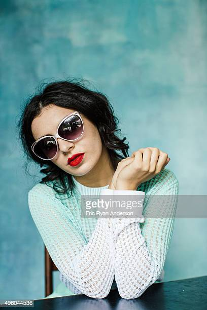 Charli XCX poses for a portrait at the Governors Ball 2015 Music Festival for Billboard Magazine on June 6 2015 in New York City