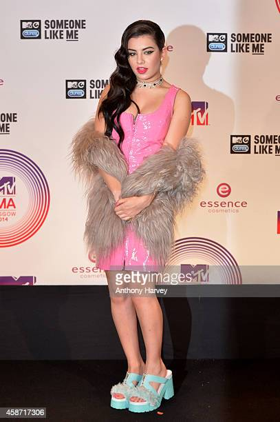Charli XCX poses in the winners room at the MTV EMA's 2014 at The Hydro on November 9 2014 in Glasgow Scotland