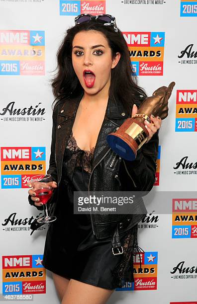 Charli Xcx Poses With The Award For Best Dancefloor Filler In Winner S Room At