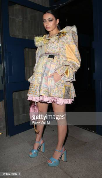 Charli XCX seen attending LOVE Magazine - party at The Standard during LFW February 2020 on February 17, 2020 in London, England.