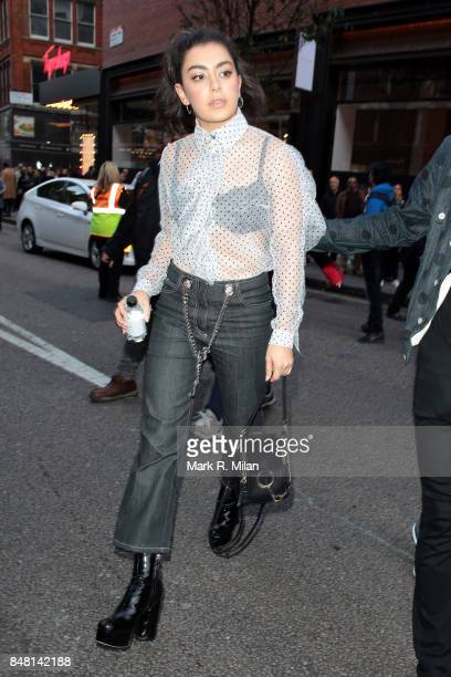 Charli XCX seen during London Fashion Week September 2017 on September 16 2017 in London England