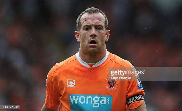 Charlie Adam of Blackpool looks on during the Barclays Premier League match between Blackpool and Bolton Wanderers at Bloomfield Road on May 14 2011...