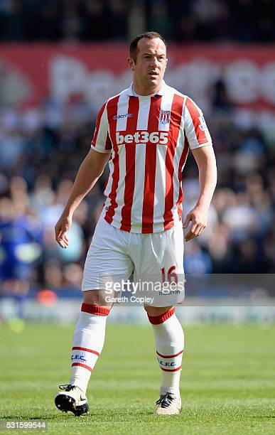 Charlie Adam of Stoke City during the Barclays Premier League match between Stoke City and West Ham United at the Britannia Stadium on May 15 2016 in...