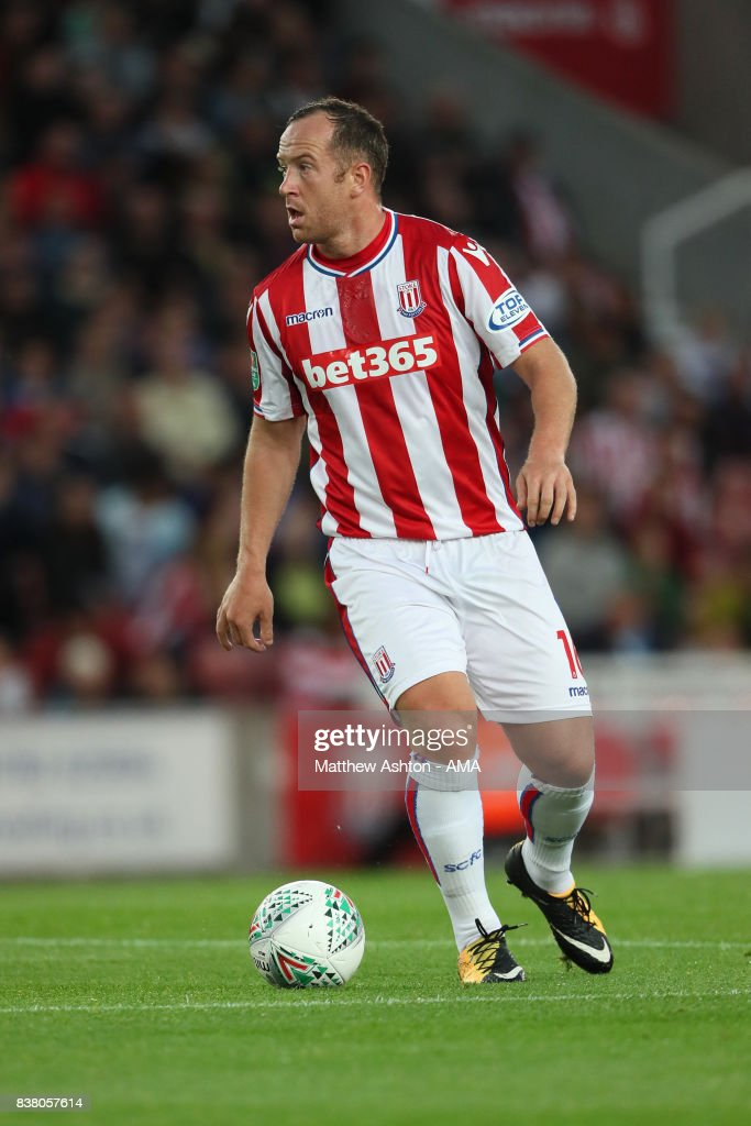 Charlie Adam of Stoke City during the Carabao Cup Second Round match between Stoke City and Rochdale at Bet365 Stadium on August 23, 2017 in Stoke on Trent, England.
