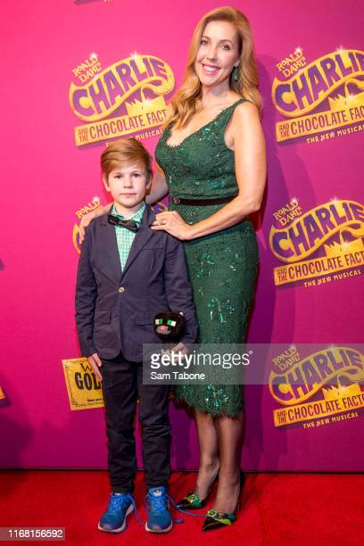 Charlie and Catriona Rowntree attend the Charlie And The Chocolate Factory Opening Night at Her Majesty's Theatre on August 15 2019 in Melbourne...