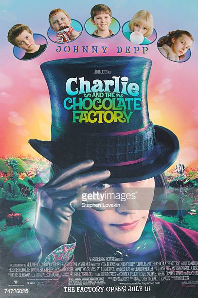 'Charlie and the Chocolate Factory' Poster at the Planet Hollywood in New York City NY