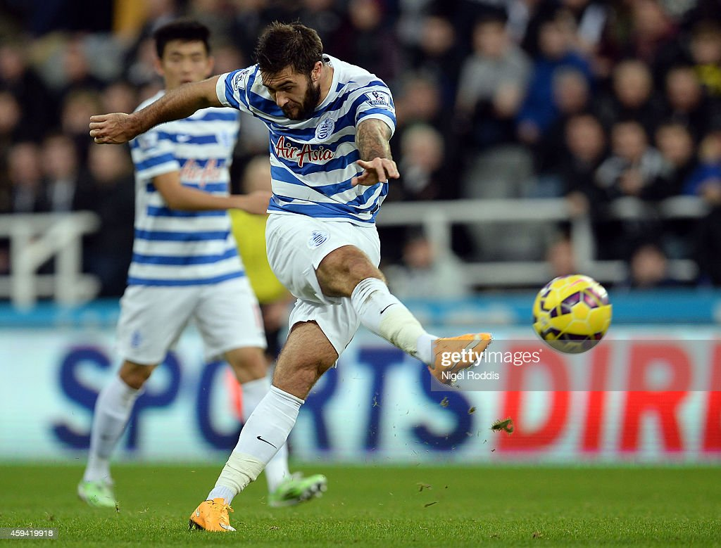 Charlie Austin of Queeens Park Rangers during the Barclays Premier League football match between Newcastle United and Queeens Park Rangers at St James' Park on November 22, 2014 in Newcastle upon Tyne, England.