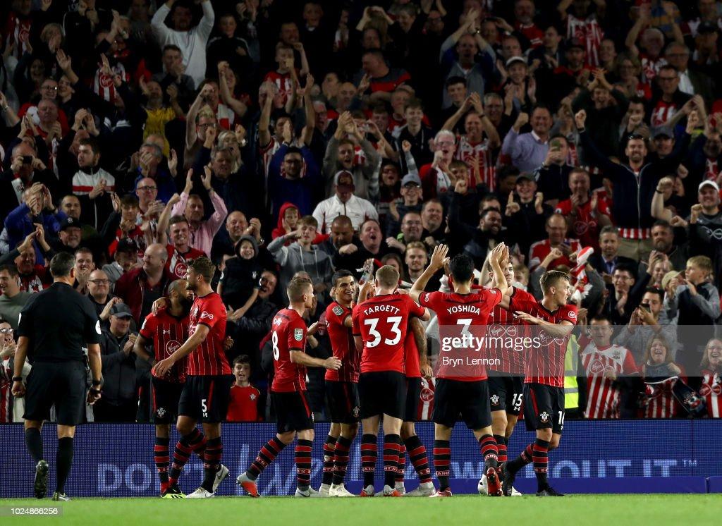 Brighton & Hove Albion v Southampton - Carabao Cup Second Round : News Photo