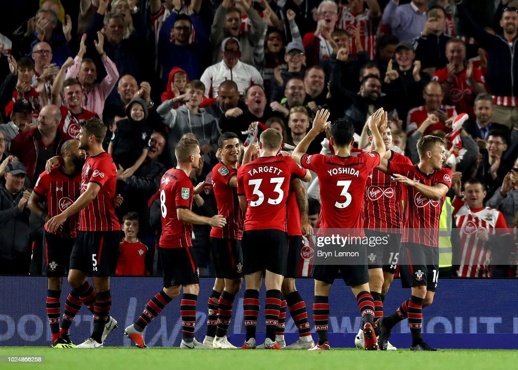 Brighton & Hove Albion v Southampton - Carabao Cup Second Round : News Photo