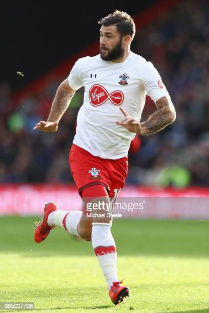Charlie Austin of Southampton during the Premier League match between AFC Bournemouth and Southampton at Vitality Stadium on December 3 2017 in...