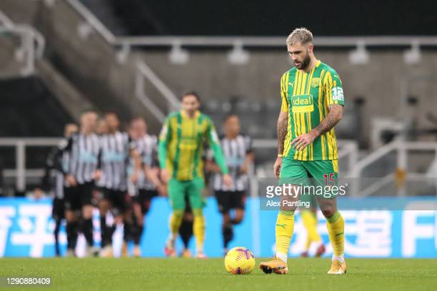 Charlie Austin of West Bromwich Albion looks dejected after Newcastle score their second goal during the Premier League match between Newcastle...