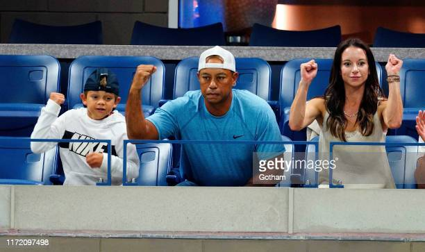 Charlie Axel Woods Tiger Woods and Erica Herman are seen at The 2019 US Open Tennis Championships on September 03 2019 in New York City