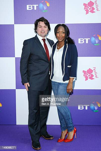 Charlie Baker and Angelica Bell attend as BT host Gala Reception at the BT River of Music Somerset House the curtain raiser to the London 2012...