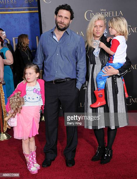 Charlie Ballerina Sisto actor Jeremy Sisto his wife Addie Lane and son Bastian Kick Sisto attend the premiere of 'Cinderella' at the El Capitan...