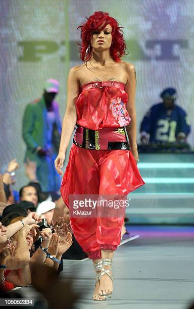 Charlie Baltimore models Baby Phat collection during 2002 MTV's Fashionably Loud Show at Roseland in New York City New York United States
